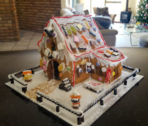 Christmas traditions gingerbread house