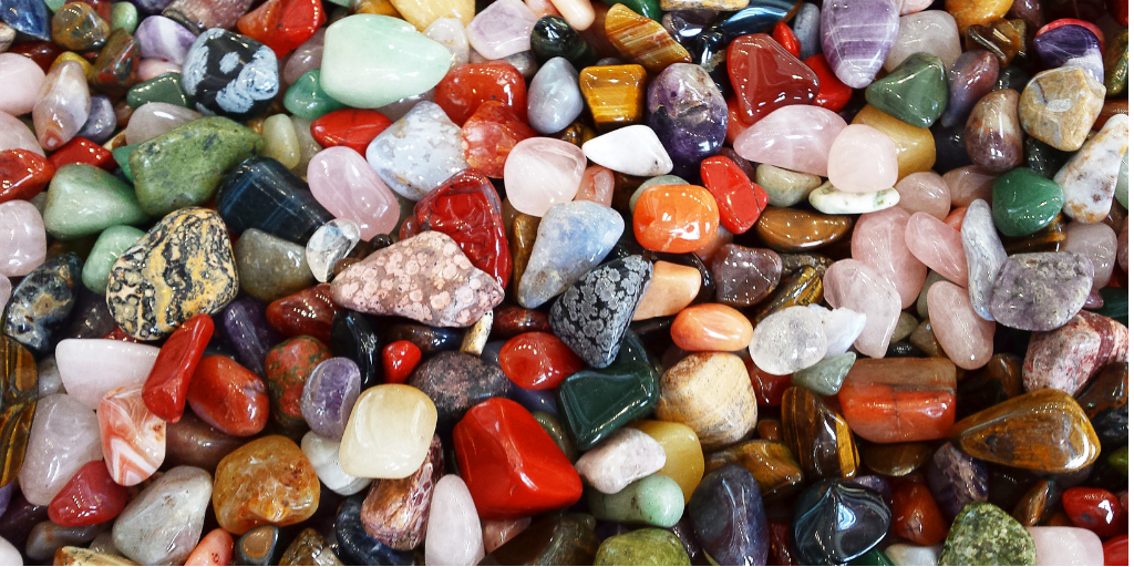 Semi-precious stones at the Scratch Patch at the V&A Waterfront, Cape Town