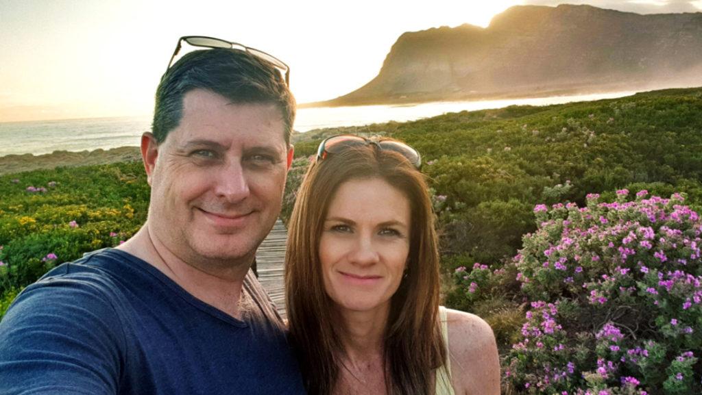 Parents Getaway Weekend in Kleinmond. Walking on the boardwalk.