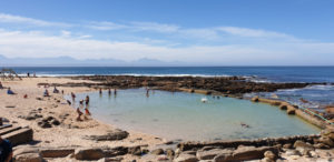 Point Beach in Mossel Bay, Garden Route with tidal pool and jungle gym