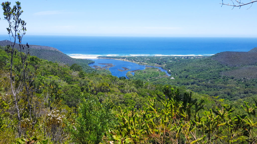 View of Nature's Valley beach and lagoon, Garden Route, South Africa