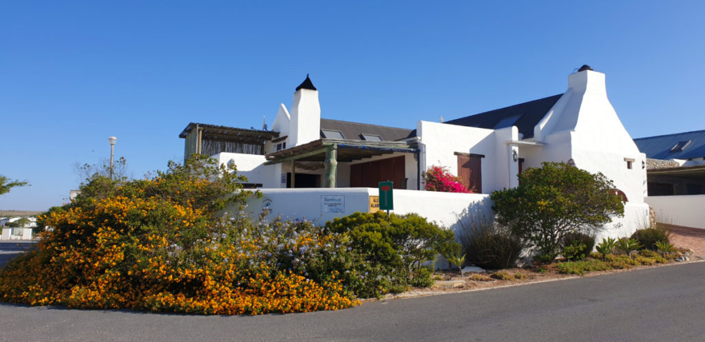 Outside view of Kapokbossie house in Paternoster