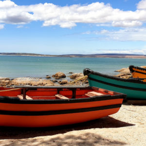 Colourful boats at Paternoster Crayfish Wharf