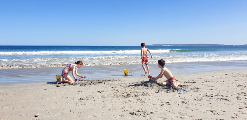 Kids playing on Paternoster beach