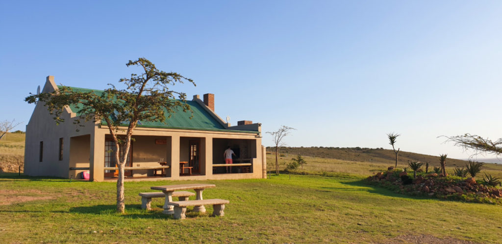 View of Reebok cottage at Kwetu Guest Farm