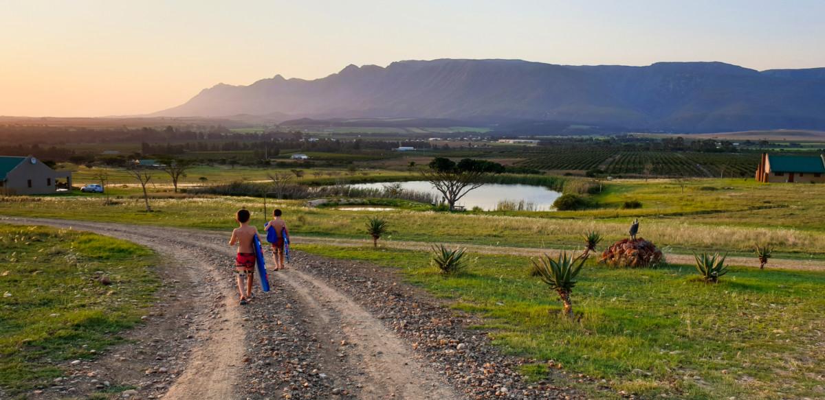 Kids at Kwetu Guest Farm in Swellendam